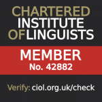 Member of Chartered Institute of Linguists